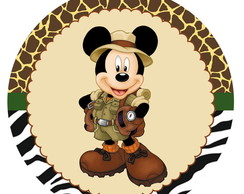 100 toppers personalizados - mickey safari