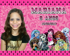 ímã de geladeira monster high
