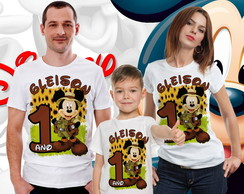 Kit Camisas Aniversario Mickey Safari- (3 und's)