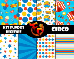 Kit de fundos Digitais - Circo Divertido