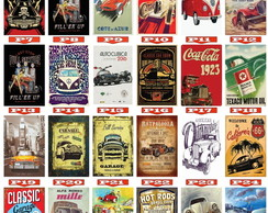 Placas Decorativas Carros Placas Texaco Vintage Retro MDF