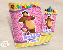 Kit colorir Masha eo urso