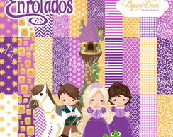 Kit Digital Princesa Rapunzel - Enrolados
