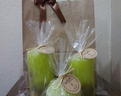 Kit Velas Decorativas Laranja Lima