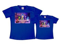 Kit 2 Camisetas Azul Royal Divertida Mente