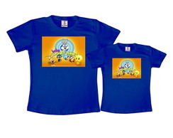 Kit 2 Camisetas Azul Royal Baby Looney Tunes