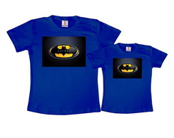 Kit 2 Camisetas Azul Royal Batman