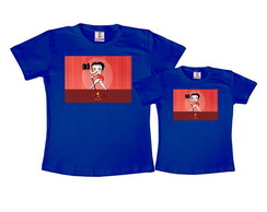 Kit 2 Camisetas Azul Royal Betty Boop