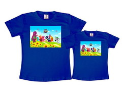 Kit 2 Camisetas Azul Royal Discovery Kids