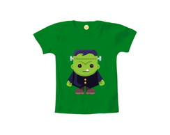 Camiseta INFANTIL OU Body Frankenstein 1 Halloween