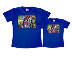 Kit 2 Camisetas Azul Royal Monster High
