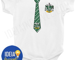 Body Infantil - Uniforme Sonserina Harry Potter