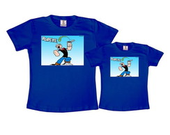 Kit 2 Camisetas Azul Royal Popeye