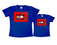 Kit 2 Camisetas Azul Royal Pucca
