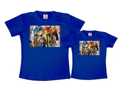 Kit 2 Camisetas Azul Royal Zootopia