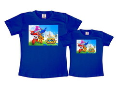 Kit 2 Camisetas Azul Royal Super Wings
