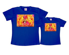 Kit 2 Camisetas Azul Royal She-Ra