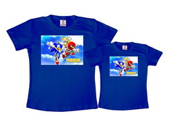 Kit 2 Camisetas Azul Royal Sonic