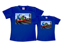 Kit 2 Camisetas Azul Royal Thomas e Seus Amigos