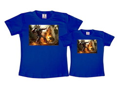 Kit 2 Camisetas Azul Royal Transformers