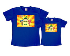 Kit 2 Camisetas Azul Royal Umizoomi