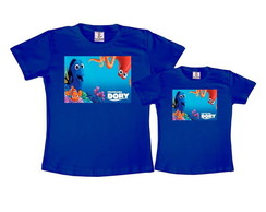 Kit 2 Camisetas Azul Royal Procurando Dory