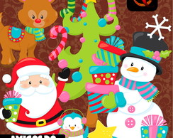 Kit Digital PNG - Amigos do Natal