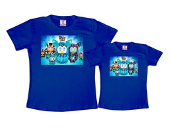 Kit 2 Camisetas Azul Royal Furby