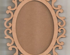 Moldura Oval Arabesco 58cm com Fundo