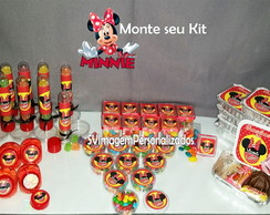 Monte seu Kit festa Minnie Silhueta