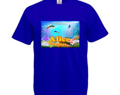 Camiseta Personalizada Fundo do Mar