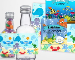 Garrafinha 50ml Fundo do Mar (Sem Recheio)