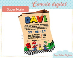 Convite digital Super Mario