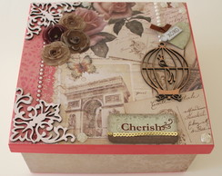 Caixa Decorada Scrap Cherish #004