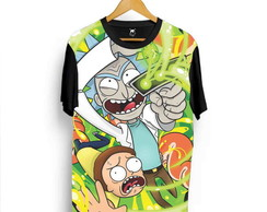 Camiseta Rick And Morty Cartoon Adult Swim Desenho Série L5