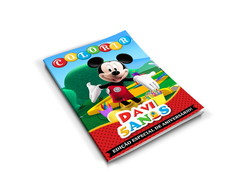 Arte Digital Revistinha de Colorir A Casa do Mickey