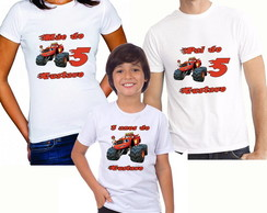 Kit 3 camiseta Blazer Monster Machine personalizad camisetas