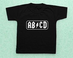 Camisetinha infantil Rock - AC/DC AB/CD