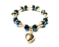 Pulseira Heart Navy Blue