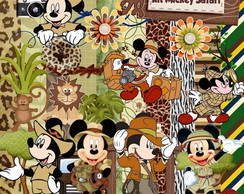 Kit Scrapbook Digital - Mickey Safari