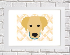 Poster com Moldura Golden Retriever