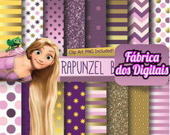 Kit Papel Digital - Enrolados Rapunzel