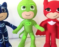 Kit PJ MASKS 3 personagens feltro