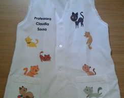 Avental professora Gatos