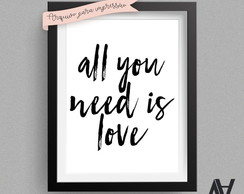 Poster Digital A3 - All you need is love