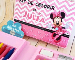 Estojo de colorir - Minnie e Mickey