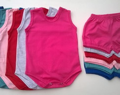 kit 6 body regata /6 short colorido