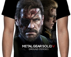 Camiseta Game Metal Gear Solid V Ground Zeroes