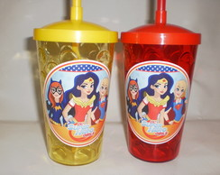 Copo Shake com Canudo de 500ml Super Hero Girls 02