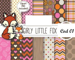 PAPEL DIGITAL Girly Little Fox
